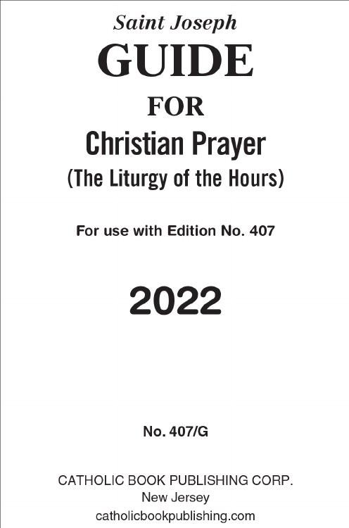 ST JOSEPH GUIDE FOR CHRISTIAN PRAYER LARGE PRINT