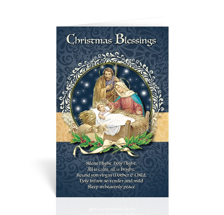 CHRISTMAS BLESSINGS HOLY FAMILY CARD