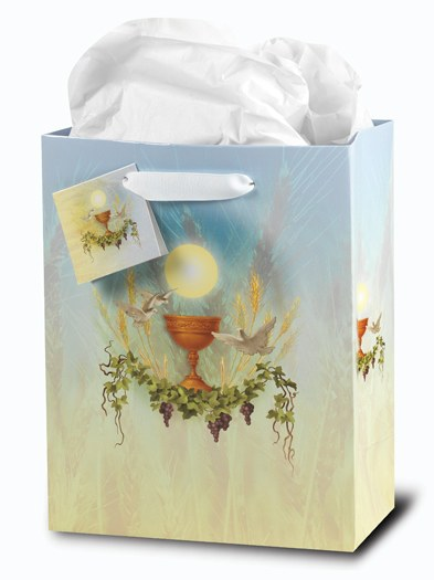 FIRST COMMUNION SMALL GIFT BAG WITH TISSUE PAPER