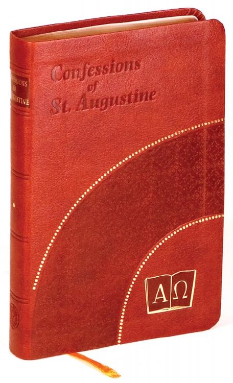 CONFESSIONS OF ST AUGUSTINE BURGUNDY/RED COVER
