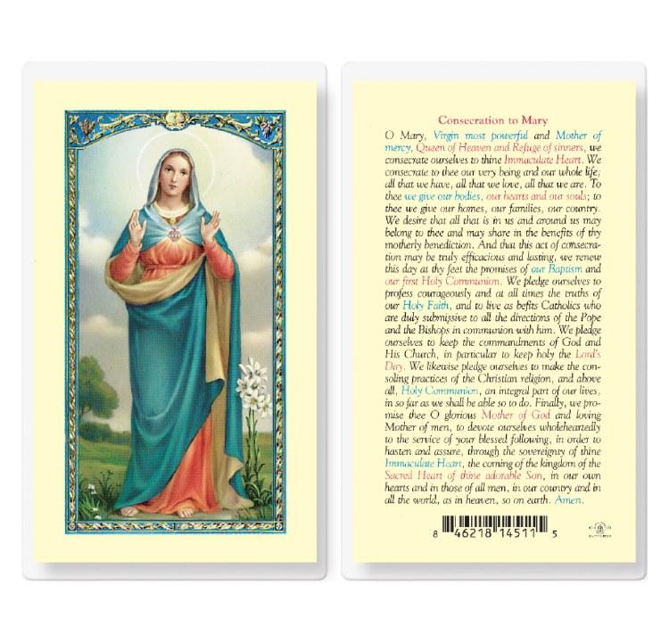 CONSECRATION TO MARY PRAYERCARD