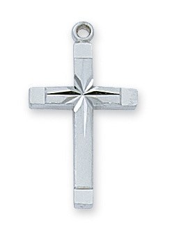 CROSS ENGRAVED STERLING SILVER