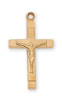 GOLD OVER STERLING CRUCIFIX
