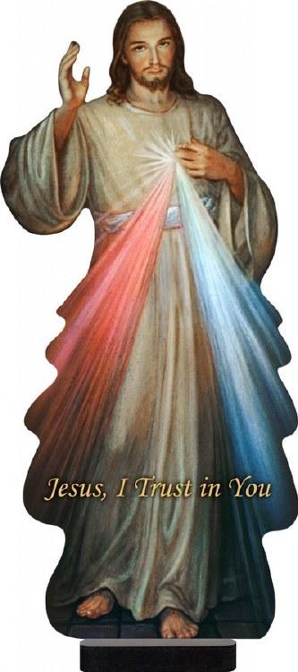 "Divine Mercy 15"" Standee"
