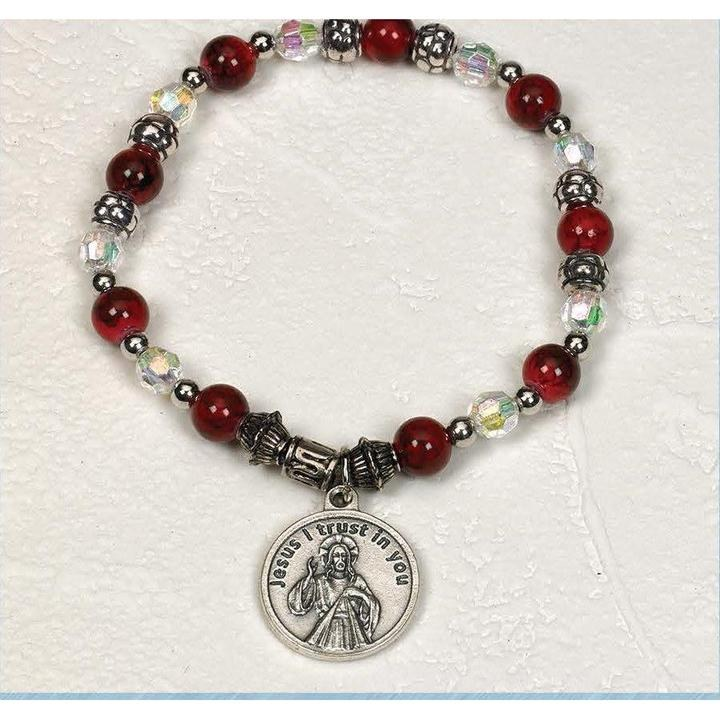 DIVINE MERCY STRETCH BRACELET