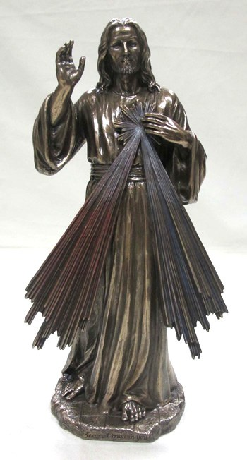 DIVINE MERCY COLD CAST BRONZE STATUE