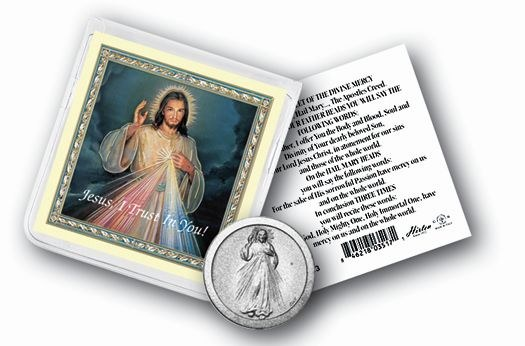 DIVINE MERCY POCKET COIN WITH PRAYERCARD