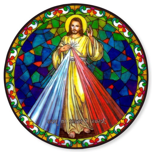 DIVINE MERCY STATIC STICKER