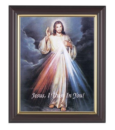 DIVINE MERCY WALNUT STANDING