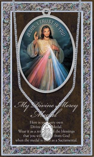 DIVINE MERCY GENUINE PEWTER MEDAL