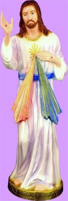 "DIVINE MERCY COLORED INDOOR/OUTDOOR 24"" STATUE"