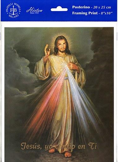 DIVINE MERCY PRINT ONLY SPANISH 8X10