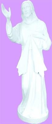 """DIVINE MERCY WHITE INDOOR/OUTDOOR 24"""" STATUE"""