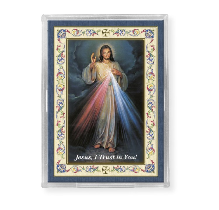 DIVINE MERCY ACRYLIC EASEL WITH MAGNET