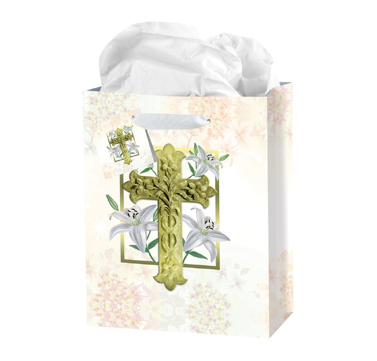 EASTER LILY GIFT BAG SMALL WITH TISSUE