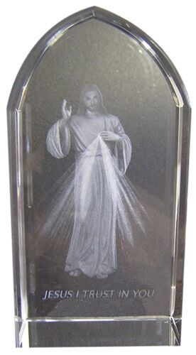 ETCHED GLASS DIVINE MERCY
