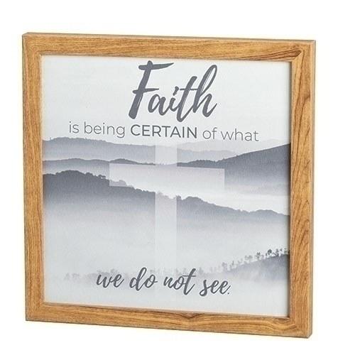 FAITH CAN MOVE MOUNTAINS PLAQUE