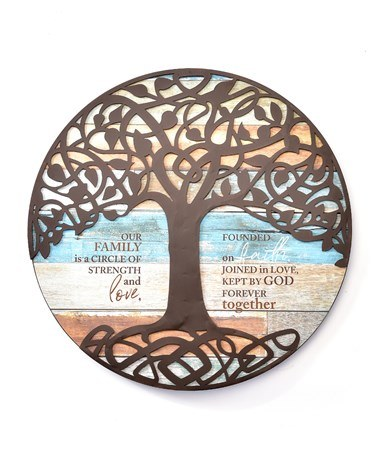 ROUND FAMILY TREE SIGN