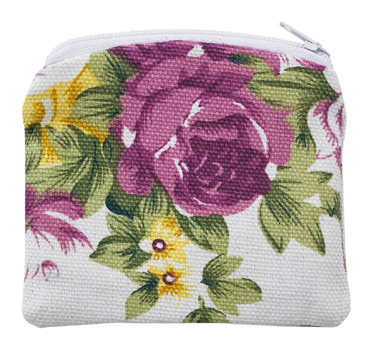 FLOWER ROSARY POUCH