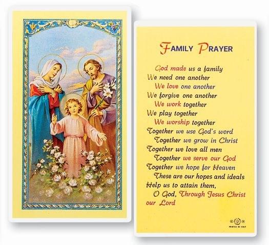 GOD MADE US A FAMILY PRAYER CARD