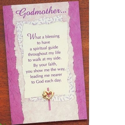 GOLD GODMOTHER HEART/DOVE PIN CARDED