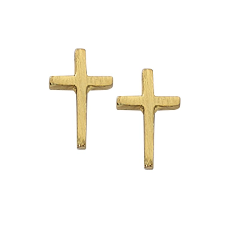 GOLD PLATED CROSS EARRINGS