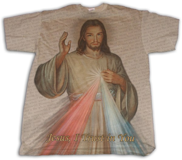 DIVINE MERCY T-SHIRT SIZE MEDIUM