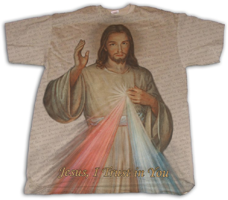DIVINE MERCY FULL COLOR SHIRT SIZE SMALL