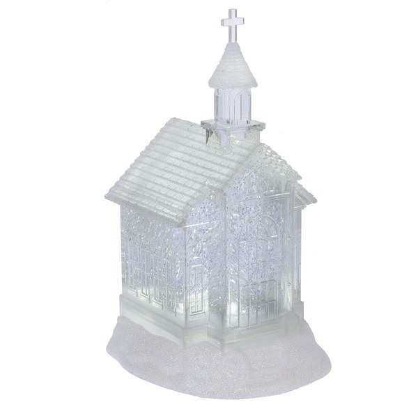LIGHTED LED SHIMMER CHURCH