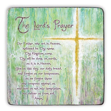 THE LORD'S PRAYER SQUARE STANDING PLAQUE