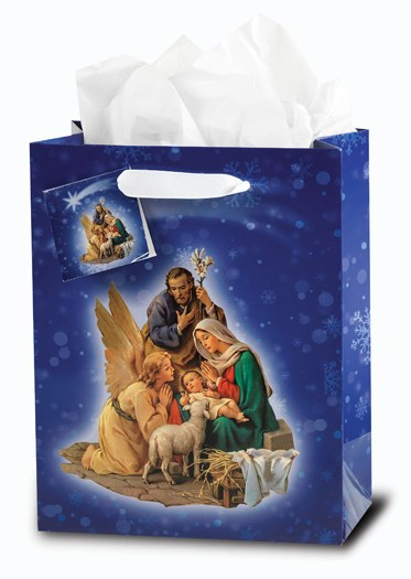 LARGE NATIVITY GIFT BAG WITH TISSUE