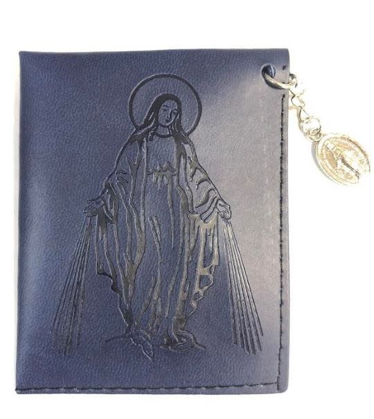 MIRACULOUS MEDAL FAUX LEATHER POUCH