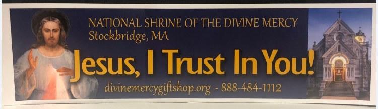 NATIONAL SHRINE OF THE DIVINE MERCY BUMPER STICKER