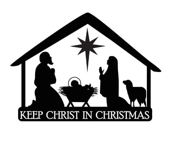 KEEP CHRIST IN CHRISTMAS AUTO MAGNET