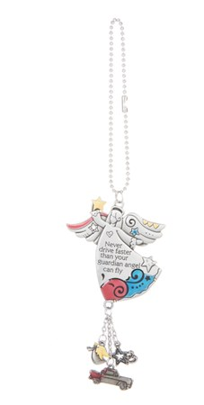 CAR ORNAMENT NEVER DRIVE FASTER THAN YOUR GUARDIAN ANGEL CAN FLY