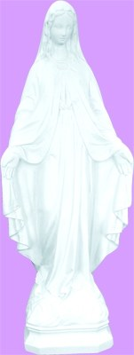 "OUR LADY OF GRACE 24"" WHITE INDOOR/OUTDOOR STATUE"
