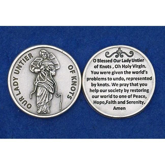 OUR LADY UNTIER OF KNOTS POCKET COIN