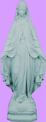 """OUR LADY OF GRACE GRANITE INDOOR/OUTDOOR 24"""" STATUE"""