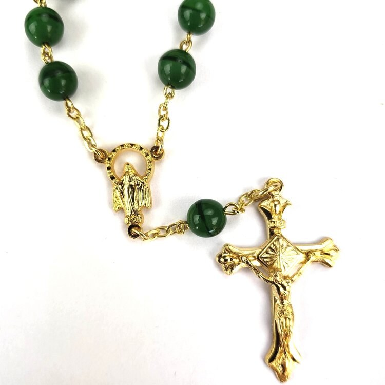 ONE DECADE GREEN ROSARY
