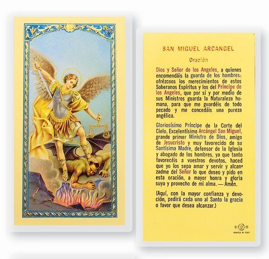 Oracion A San Miguel Arcangel Divine Mercy Gift Shop