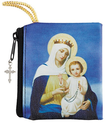 OUR LADY OF THE ROSARY ZIPPERED ROSARY CASE