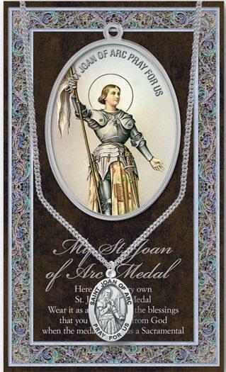 GENUINE PEWTER ST JOAN OF ARC MEDAL