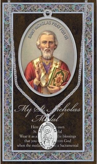 GENUINE PEWTER ST NICHOLAS MEDAL