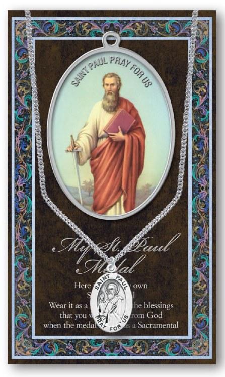 GENUINE PEWTER ST PAUL MEDAL