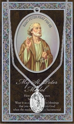 GENUINE PEWTER ST PETER MEDAL