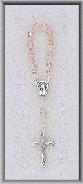 ONE DECADE PINK ROSARY