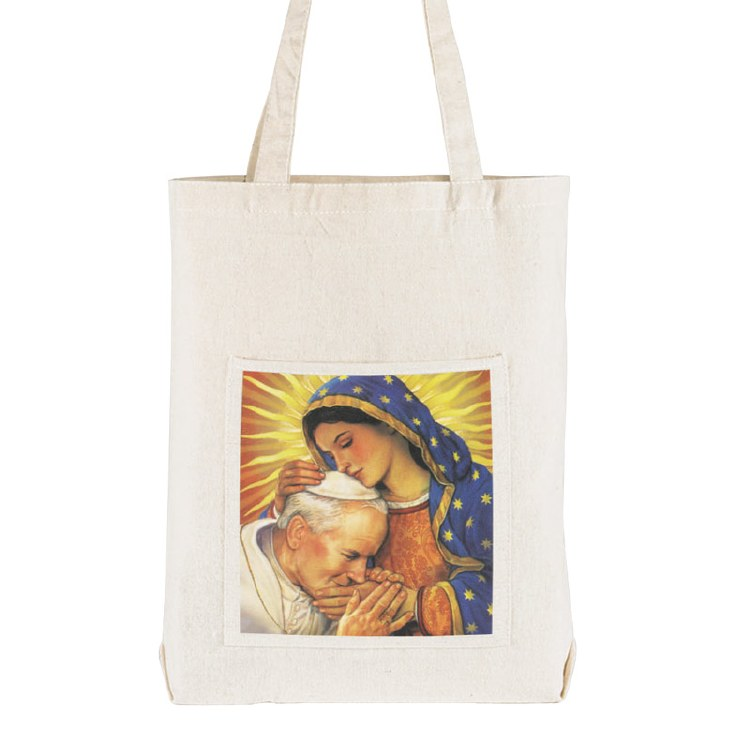 POPE JOHN PAUL II AND OUR LADY OF GUADALUPE TOTE BAG