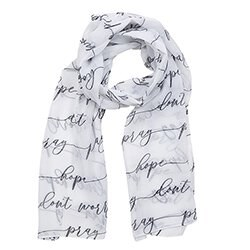 PRAYER SCARF - PRAY, HOPE AND DON'T WORRY