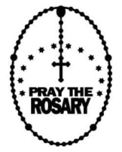 PRAY THE ROSARY WINDOW CLING
