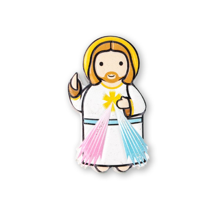 "3"" LITTLE DROPS OF WATER RESIN MAGNET DIVINE MERCY"